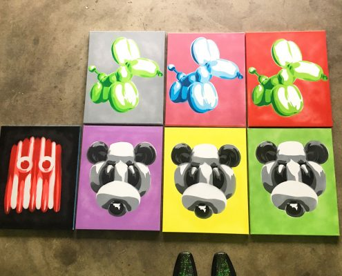 balloon art canvas